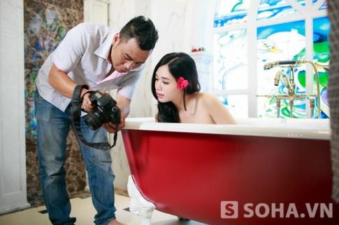 Dang sau nhung buc anh nude cua hot girl Ha Min