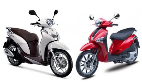 Nen mua xe Honda SH Mode hay Piaggio Liberty?