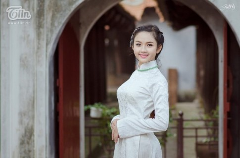 'Xao xuyen' voi net dep tinh khoi cua nu sinh Tuyen Quang