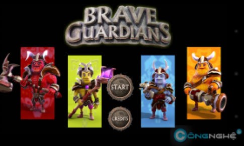 Brave Guardians: game thu thanh co do hoa dinh