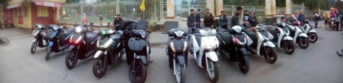 Dan xe Honda SH cua Vietnam SH Club vieng tham Phu Tho