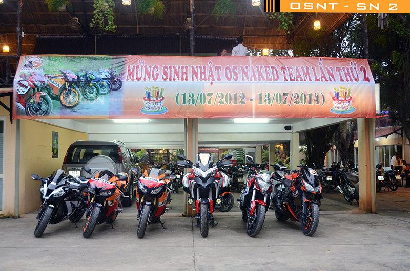 Dàn xe mô tô phân khối lớn hội tụ tại Sinh nhật OS Naked Team lần 2