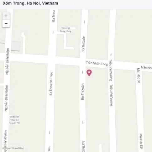 Di tim Xom Trong - dia danh duoc check in Facebook nhieu nhat o Ha Noi
