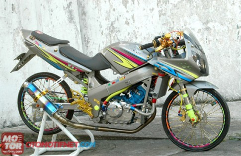 Honda CBR 150 do phong cach Drag