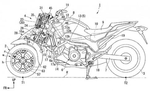 Honda san xuat moto 3 banh