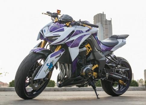 """Kawasaki Z1000 2014 Do dan ao """"Xitrum"""" tre trung tai Sai Gon"""