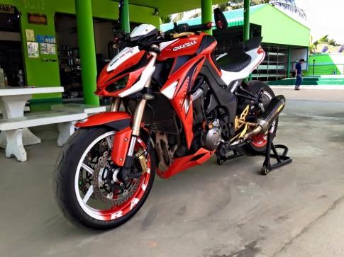 Kawasaki Z1000 2014 do phong cach voi phien ban Greatzaa tai Thai