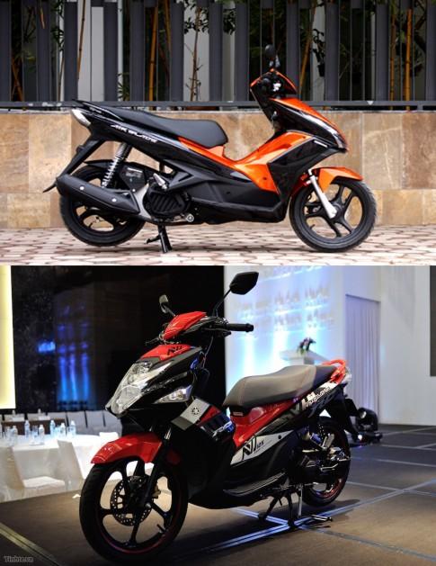 So sánh Yamaha Nouvo Fi 2015 và Honda Air Blade 125