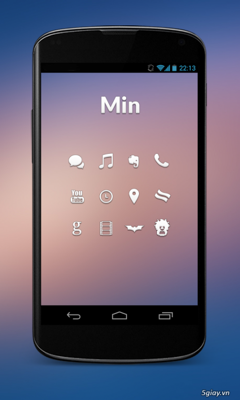 6 bo icon tuyet dep va mien phi cho Android