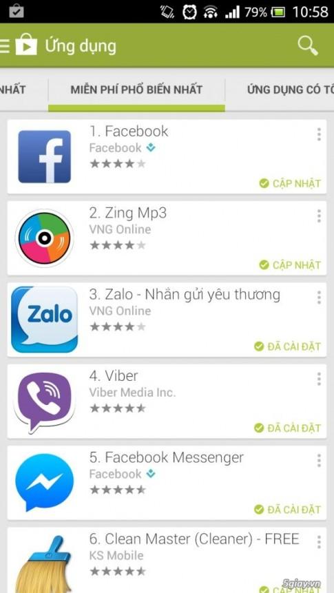 6 ung dung nhan tin tren smartphone hot nhat tai VN