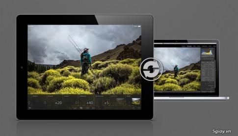 """Adobe ra mat """"Lightroom for mobile"""" tren iPad"""