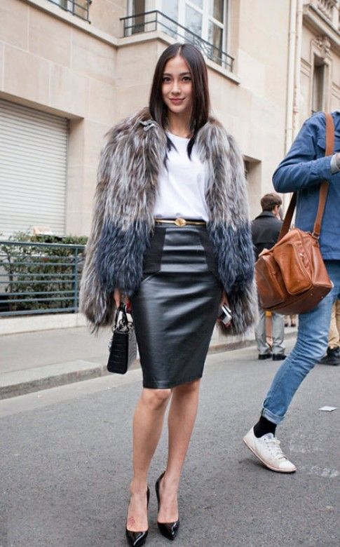 Angelababy thanh lịch tại các tuần lễ thời trang