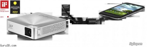 ASUS trinh lang ASUS S1 Mobile LED projector
