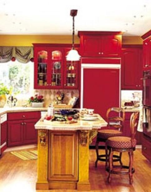 Bếp đỏ cho người cá tính