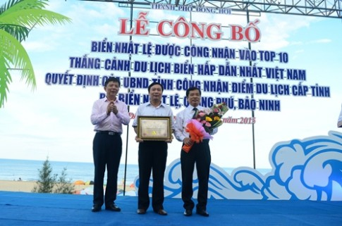 Bien Nhat Le vao top 10 thang canh bien hap dan Viet Nam