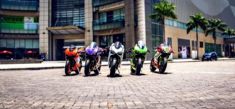 Biệt đội Ducati Panigale đủ sắc màu tụ hội tại Sài Gòn