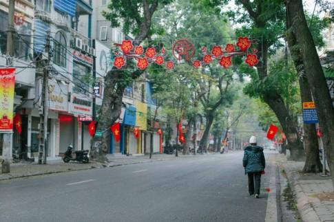 [Bo anh] Pho phuong Ha Noi binh yen sang mung 1 Tet