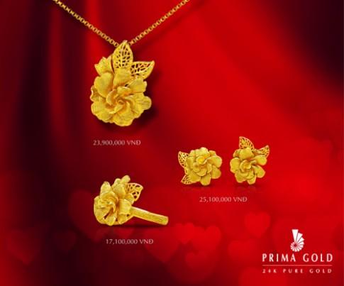 Bộ sưu tập trang sức dịp 8/3 của Prima Gold