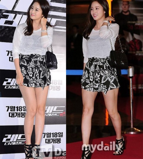 Bộ sưu tập váy ngắn của Kim Tae Hee