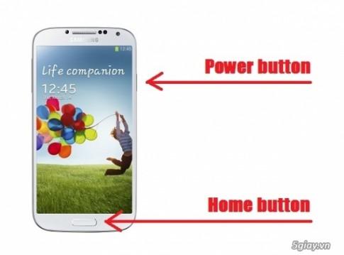Cách chụp màn hình trên Galaxy S4