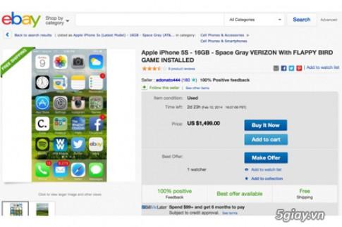 Choang voi iPhone 5S cai san Flappy Bird gia 32 trieu dong
