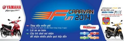 """Chuong trinh """"Fun Caravan 2014"""" cung Yamaha Viet Nam"""