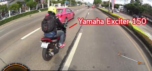 [Clip] Exciter 150 so tài cùng Kawasaki Z250