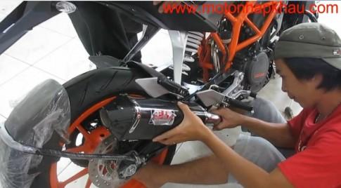 [Clip] Quy trình gắn và thử pô Akrapovic, Yoshimura cho KTM 390 DUKE