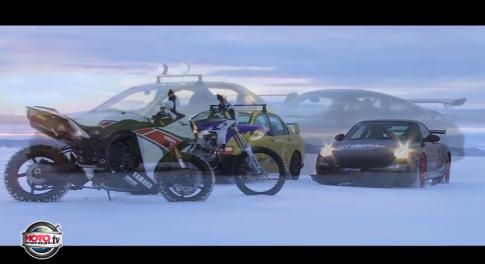 [Clip] R1 so tài với Porsche GT3 trên băng tuyết cực đỉnh