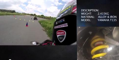 [Clip] Test phuoc Racingboy monoshock tren exciter 2013