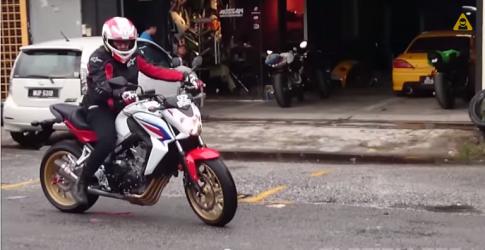 [Clip] Tieng gam ru cua Honda CB650F cuc khung voi po Yoshimura