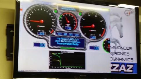 [Clip] Yamaha LC135 đạt 200km/h trên bàn Dyno
