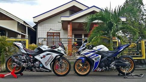 [Clip] Yamaha R3 đua với Kawasaki Ninja 300