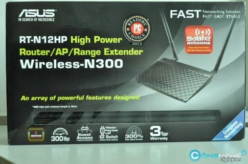 Danh gia nhanh Router Asus N-12HP