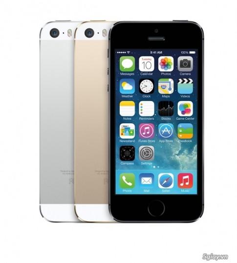 Dien thoai iPhone 5s, iPhone 5c giam gia shock