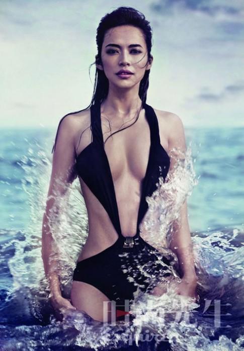 Dieu Than bi che thieu goi cam voi bikini