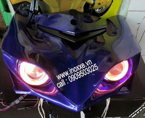 Độ mặt nạ 2 gương cầu Exciter 2015 tại shop Hoàng Trí
