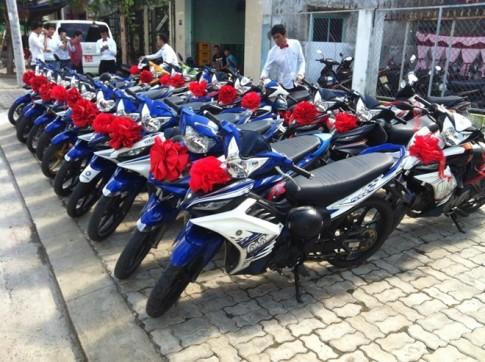 Đoàn Exciter rước dâu tại Đà Nẵng