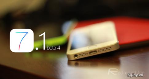 Download, cai dat va jailbreak firmware iOS 7.1 Beta 4 cho các thiét bị iOS