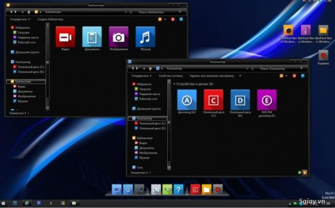 Download SkinPack Nox vs Windows 8 - theme Windows 8.1 nen den phong cach an tuong