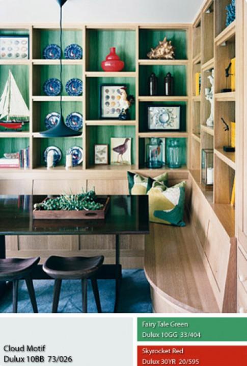 Đưa màu rực rỡ vào không gian nội thất