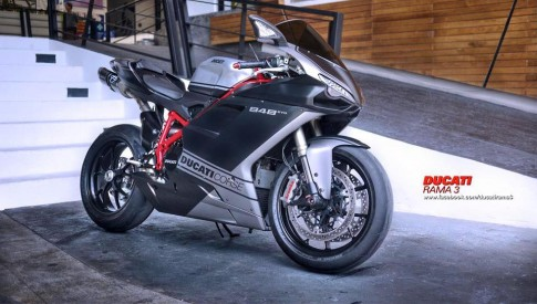 Ducati 848 EVO Corse SE do day phong cach tren dat Thai