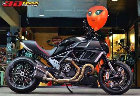 Ducati Diavel do chat choi voi nhung option hang hieu tai Thai