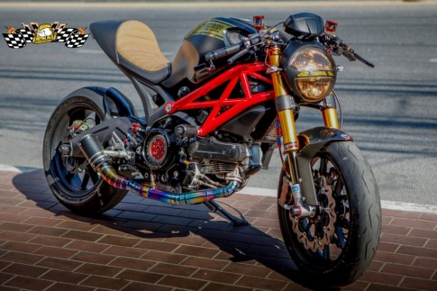 Ducati Monster 795 chat choi trong phien ban Cafe Racer