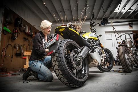 Ducati Scrambler cua co nang nha bao xinh dep