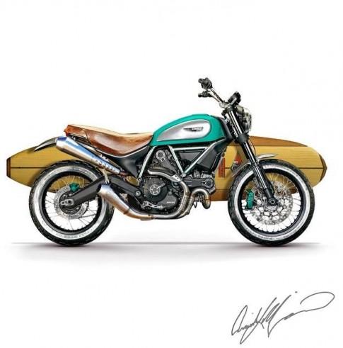 Ducati Scrambler cung nhung ban concept ca nhan hoa