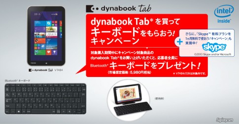 Dynabook Tab VT484, chiec tablet so huu chip Bay Trail moi tu Toshiba