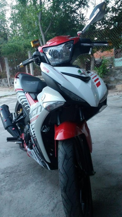 Exciter 150 do phong cach Indo voi do choi nhe