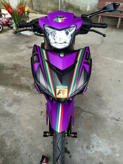 Exciter 150 Màu tím Phong cách F1