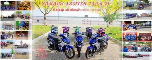 Exciter va chum anh mung sinh nhat Yamaha Team 71